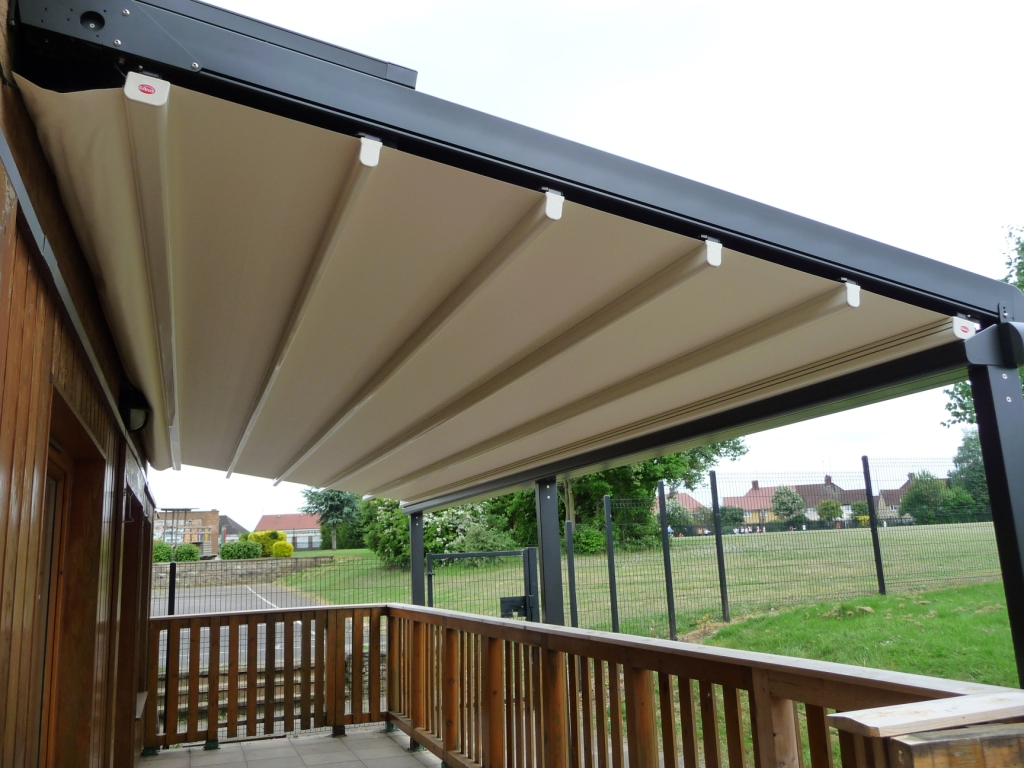 retractable canopy for deck awnings by sunair. Black Bedroom Furniture Sets. Home Design Ideas