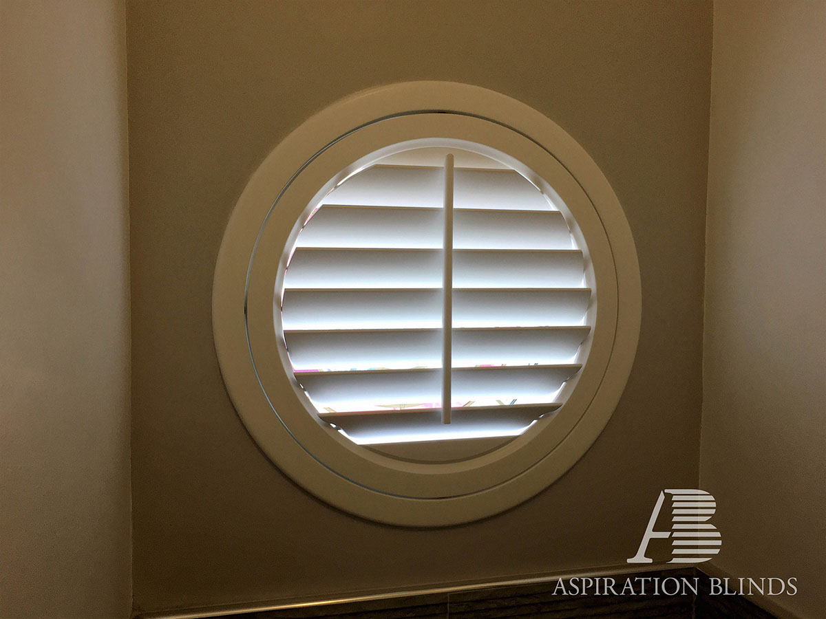 Special Bespoke Shape Window Shutters By Aspiration Blinds