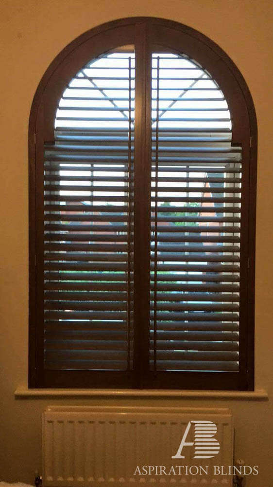 Special Shape Arch Shutter Open Aspiration Blinds In Bolton